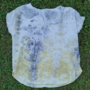 Natural dyed, eco print, upcylces shirt
